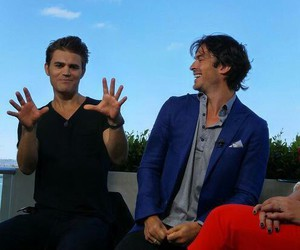 the vampire diaries, paul wesley, and comic-con image