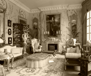 antique, bw, and Chinoiserie image