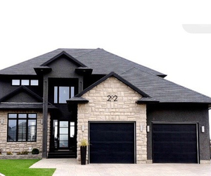 house, black, and home image