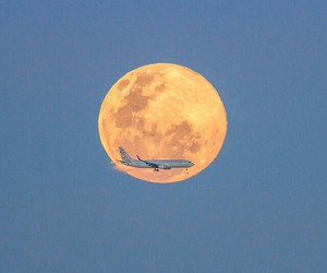 travel, fly, and moon image