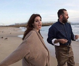 lana del rey, beach, and west coast image
