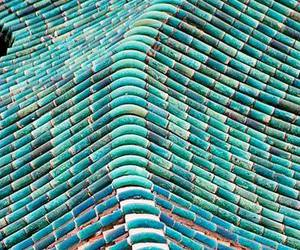 turquoise, blue, and roof image