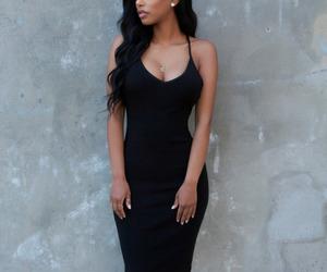 dress, girl, and black image