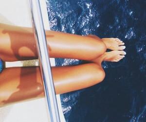 summer, legs, and sea image