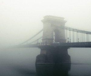 budapest, film, and fog image