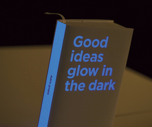 book, glow, and dark image