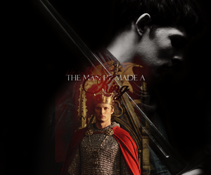 arthur, king, and merlin image