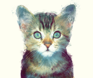 cat, art, and animal image