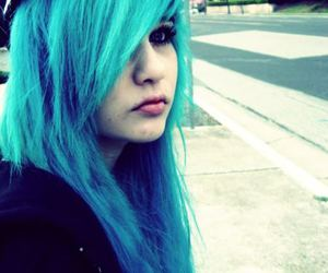 blue hair, scene, and ambrehhh is dead image