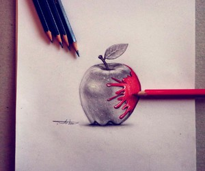 apple, art, and color image