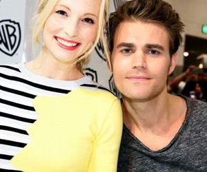 paul wesley, candice accola, and tvd image