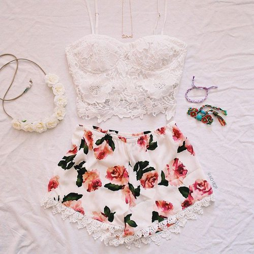 outfit, flowers, and style image