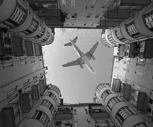 plane, airplane, and sky image