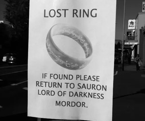ring, mordor, and lord of the rings image