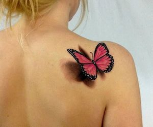 tattoo, tatuaje, and mariposa 3d image