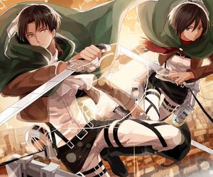 anime, shingeki no kyojin, and mikasa image