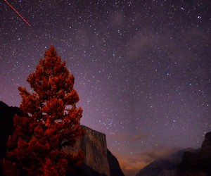 galaxy, mountain, and nature image