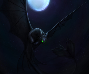 dragon, toothless, and wallpaper image