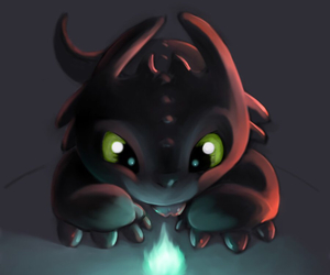 dragon, lovely, and toothless image