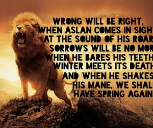 aslan, quote, and the chronicles of narnia image