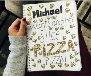 5sos, pizza, and michael clifford image