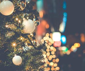 bokeh, christmas, and lights image