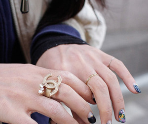 nails, chanel, and rings image