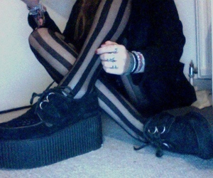 grunge, creepers, and black image
