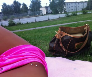pink, tan, and tanning image