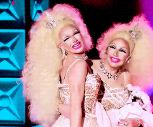 rupauls drag race, trixie mattel, and pearl liaison image