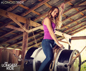 nicholas sparks, britt robertson, and the longest ride image