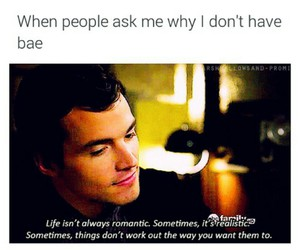 pretty little liars, ian harding, and bae image