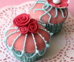 sweet, rose, and cake image