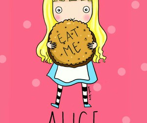 alice, pink, and wallpaper image