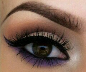 beauty, makeup, and violet image