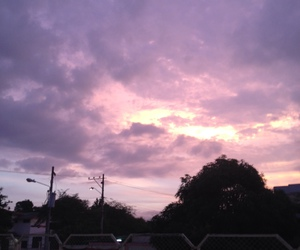 aesthetic, lilac, and sky image