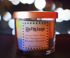 candle, harry potter, and hermione image