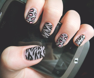 nails, phone, and nail art image