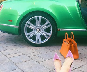 kylie jenner, car, and heels image