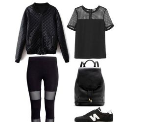 chic, dress up, and all black image