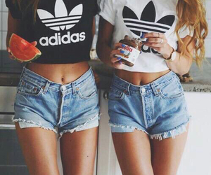 adidas, watermelon, and summer clothes image