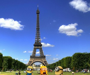 paris, minions, and eiffel tower image
