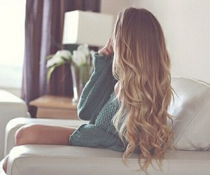 blonde, girl, and tumblr hair image