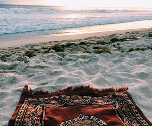 beach, sea, and islam image