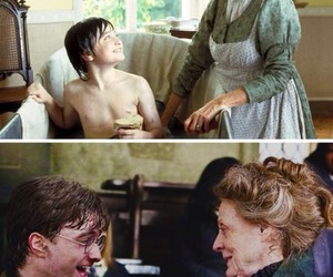 harry potter, maggie smith, and daniel radcliffe image