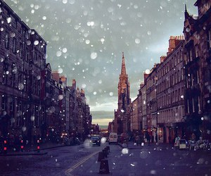 snow, city, and photography image