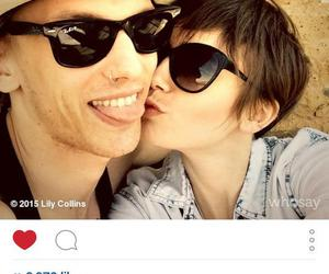 Jamie Campbell Bower, otp, and lily collins image