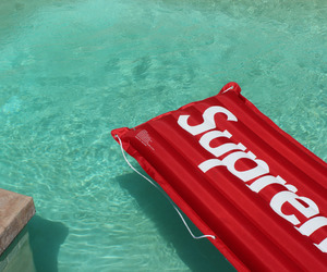 supreme, pool, and summer image
