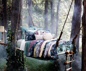 bed and forest image