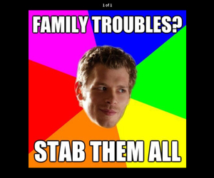 funny, klaus, and tvd image